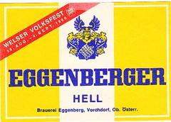 Austria - Brauerei Eggenberg (Vorchdorf) (cigpack.at) Tags: brauerei eggenberg eggenberger hell welser volksfest 1966 austria österreich vorchdorf bier beer brewery label etikett bierflasche bieretikett flaschenetikett