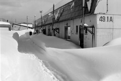 Hard to get out (threepinner) Tags: mikasa hokkaidou hokkaido northernjapan japan winter snow house pentax mzm pentaxm 50mm f17 kodak microfilm imagelink hq 三笠 北海道 北日本 日本 selfdeveloped
