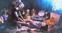 Dollhouse Wizard (clau.dagger) Tags: theepiphany secondlife gacha event canimal randommatter doe doll fashion avatar magic decor hair kawaii insol catwa maitreya drd eve wetcat fantasy horror