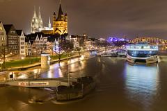 Köln Altstadt Hochwassers 8. Januar 2018