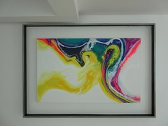 contained color (pacfolly) Tags: cancun mexico cancunmexico resort painting artwork decor framed colorful hallway
