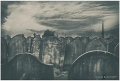 Handheld: 'V' a Poems' View (Shaun S. Leatham) Tags: grave leeds beeston land yard stone sony a77v 1650 yorkshire blackandwhite black white gloom horror spooky dead bones england