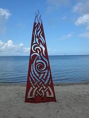 Feuer Kunstwerk - Flodin (mo_metalart) Tags: kunst timmendorferstrand metallkunstflodin mirkosiakkouflodin feuerkunstwerk feuerskulptur mometallkunst metallkunst