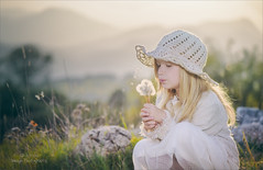 Make a wish (Red Gecko Photography) Tags: dandelyons blowing seeds mountains portrait meadow andalucia spain malaga summer girl