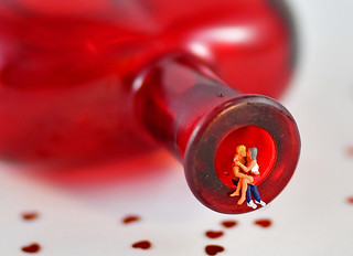 MM: In a bottle-sitting in the heart of glass