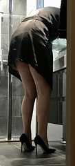 MyLeggyValentine (MyLeggyLady) Tags: ass upskirt pumps secretary sexy milf teasing hotwife minidress lingerie stilettos cfm legs heels