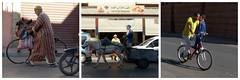los geht's-ready to go (Anke knipst) Tags: marokko marrakesch rad wagen esel bike donkey child kind hühner chicken djellaba