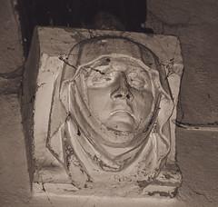 The Face III (dusk_rider) Tags: great wymondley village church norman 15th century medieval england english statue face gargoyle interior nikon d7200 february dusk rider st saint mary virgin hertfordshire stone