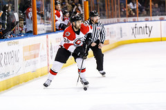 "Kansas City Mavericks vs. Cincinnati Cyclones, February 3, 2018, Silverstein Eye Centers Arena, Independence, Missouri.  Photo: © John Howe / Howe Creative Photography, all rights reserved 2018. • <a style=""font-size:0.8em;"" href=""http://www.flickr.com/photos/134016632@N02/39407447934/"" target=""_blank"">View on Flickr</a>"