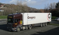 Gregory distribution WM15 OAC at Newtown (joshhowells27) Tags: lorry truck scania refrigerated r450 gregory