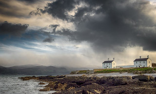 Stormy Sky at Penmon Point, Anglesey, Wales.
