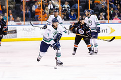 "Kansas City Mavericks vs. Florida Everblades, February 18, 2018, Silverstein Eye Centers Arena, Independence, Missouri.  Photo: © John Howe / Howe Creative Photography, all rights reserved 2018 • <a style=""font-size:0.8em;"" href=""http://www.flickr.com/photos/134016632@N02/39491136105/"" target=""_blank"">View on Flickr</a>"