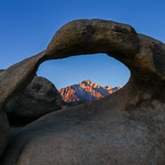 A view of Lone Pine peak through the Mobius Arch thumbnail