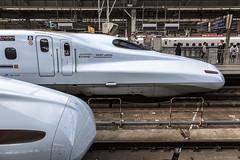 Riding the Shinkansen - Hiroshima to Osaka (andyrousephotography) Tags: japan osaka shinōsakastation shinkansen bullettrain train highspeed nozomi hikari sakura kodama design n700 n700a engineering aerodynamic slick speed andyrouse canon eos 5d3 5dmkiii ef24105mmf4l