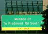 Atlanta (swampzoid) Tags: street highway freeway green greensign road information directions exit only expressway georiga atlanta i85 interstate interstate85 driving whiledriving midtown monroedrive piedmont piedmontroad turnaround cloverleaf
