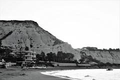 Lido Rossello (Wulfchef) Tags: realmonte agrigento sicily sicilia bay landscape seascape summer enchanted paradise monochrome black white blackwhite