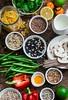 vegetarian healthy food ingredients... (sonja-ksu) Tags: food vegetables cereals fruits seeds ingredients healthyeating set nutritionist foodphotography