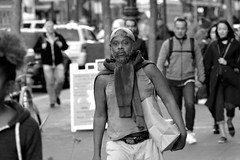 People on Market St 155 (TheseusPhoto) Tags: blancoynegro blackandwhite monochrome noir people streetphotography street city citylife sanfrancisco sanfran california marketstreet portrait man