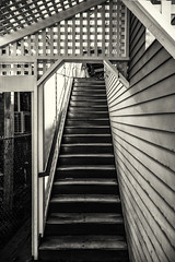 Stairs--Provincetown (PAJ880) Tags: stairs angles bw mono provincetown ma cape cod building