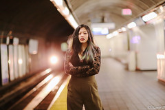 swag-station (Samir D) Tags: swag samird 2018 style streetphotography model debbie canon canada train translink vancouver vancity vancitybuzz vans bc britishcolumbia 604 604now northamerica night nightshot nightimage bokeh