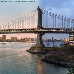 Manhattan Bridge Day/Night Photo (20171126-DSC03757-Edit) (Michael.Lee.Pics.NYC) Tags: newyork brooklynbridgepark empirestores eastriver manhattanbridge sunset twilight bluehour timelapse daytonight architecture cityscape dumbo empirefultonferry sony a7rm2 voigtlandernoktonclassic35mmscf14