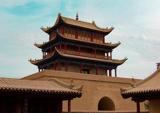 Dans l'enceinte du fort de Jiayuguan
