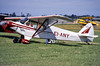 Piper PA-18 Super Cub EI-ANY Private (EI-DTG) Tags: planespotting aircraftspotting casement baldonnel eime june1988 taildragger eiany piper supercub pa18