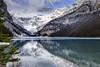 Lake Louise, Banff National Park (aud.watson) Tags: canada alberta canadianrockies columbiashuswapregion banffnationalpark lakelouise plainofsixglaciers mtvictoria devilsthumb lake glacialfedlake glacierlake rockflour mountain mountains mountainside valley valleys glaciervalley cliff cliffs escarpment glacier rock rocks stone stones pebbles cloud clouds sky landscape reflections park reserve