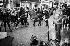 The Voice? (Oregami) Tags: lancaster streetphotography streetperformer audienceparticipation adoration singer stphotographia heartthrob voice