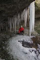 Glace dans l'abri sous roche du Creux qui sonne - Montmahoux (francky25) Tags: glace dans labri sous roche du creux qui sonne montmahoux franchecomté doubs hiver