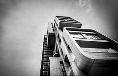 To the sky (ESTjustPHOTO - Elias S Tilavgi) Tags: limassol cyprus architecture urban landscape building black white bw sky leading lines bnw cityscape design