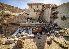 Mining Whazzit (dwblakey) Tags: ruins california blocks owensvalley concrete mining inyocounty easternsierra bishop history tungstenhills desert structures exploring junk outdoors unitedstates us