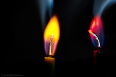 smokin' angel flames (sure2talk) Tags: macromondays flames flame smokinangelflames angelflames colouredflames doubleexposure nikond7000 nikkor85mmf35gafsedvrmicro macro closeup hot candles 118picturesin201877hot angelflamecandles smileonsaturday curiouscandles