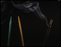 In a huff (BlueIsomer) Tags: threesacrowd flickrfriday toothpick incense smoke pattern backlit sidelit stickfigures canon eos 80d ef50mmf18stm 7dwf macro