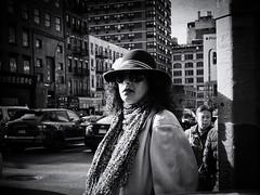 Retro Style (Feldore) Tags: manhattan newyork vintage candid hat retro scarf street stylish sunglasses woman chinatown feldore mchugh em1 olympus 17mm 18