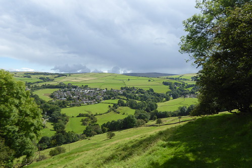 A view of Rainow from the top of Kerridge Hill