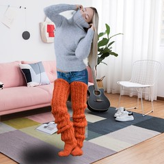 Softly wool pleasure blonde girl.  Mohair sweater, knit tights, sofa, carpet, guitar, chair, total white, wooden floor. (joted_77new) Tags: wool socks rib knit girl blonde mohair turtleneck