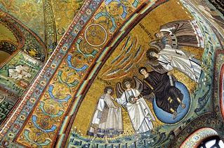 Apsidal arch and dome mosaics, 6thC CE - Basilica di San Vitale, Ravenna, Emilia-Romagna, Italy..