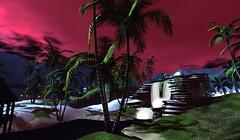 Magic in Serenity (cejalaval) Tags: secondlife sl scenic shadows firestorm windlight waterfall sunset landscape