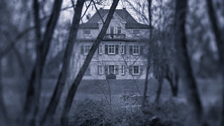 The haunted house...