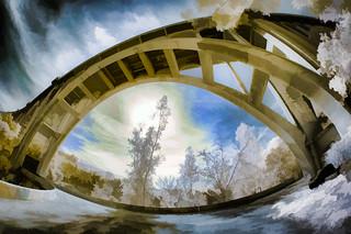 Beneath the Bridge - Color IR
