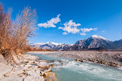 Mountain landscape with river. (franco nadalin) Tags: day background beautiful blue cloud environment fall flow hill landscape mountain mountains natural nature outdoor outdoors river rock scene scenery scenic season sky stone stream travel tree vacation view water waterfall wild wilderness