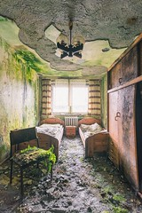 Cheap hotel (Maximilian-Müller-Fotografie) Tags: urbex urbanexploration urban lost lostplace lostplaces decay derelict abandoned abandon green hotel room nature fern moss colour colourful forgotten