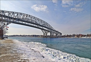 Cold Day On The St.Clair River