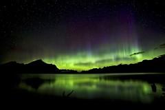 August 23rd 2015 4am (John Andersen (JPAndersen images)) Tags: alberta aurora kananaskis moonlight mountains night pond reflections stars summer wedge