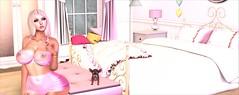 Candy Room (Gabriella.Lexenstar) Tags: firestorm secondlife red portrait latex lexenstar gabriella stockings pink sexy woman seductive erotic lingerie blond busty barbie beach bikini curvy beauty babe beautiful girl shadow sl virtual 3d virtualworld winter naughty babygirl breasts house sand sun tree england