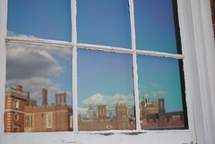 Reflecting in the window (Explored) (zawtowers) Tags: hampton court palace east molesey surrey henry viii historic royal residence saturday february 17th sunny dry visit wooden window panel glass reflecting splendour