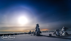 The moon, the night (Claude-Olivier Marti) Tags: moon lune luosto artic nord northeurope cerclepolaire finlande finnishlapland finnish laponiefinlandaise landscape laponie lapland nuit longexposure d850 nikond850
