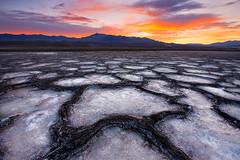 Pieces (circleyq) Tags: sunrise desert death valley landscape california national park cottonball salt flat basin pattern geology