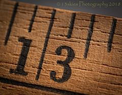 Less Than One Inch (HMM) (13skies) Tags: hmm less macromondays lessthananinch macroscopic macro close ruler yardstick increments theme sonyalpha100 fun wooden lines